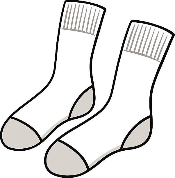 Black and white clipart of a sock clip art royalty free download Socks black and white clipart 1 » Clipart Portal clip art royalty free download
