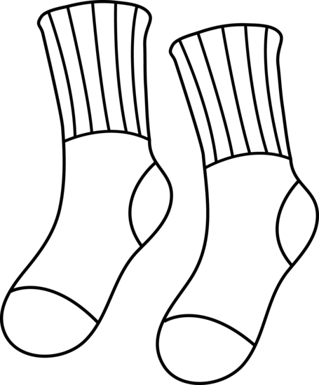 Socks clipart black and white graphic freeuse Free Socks Cliparts, Download Free Clip Art, Free Clip Art on ... graphic freeuse