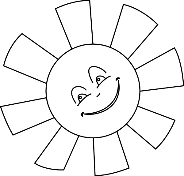 Black and white summer clipart sun png library library Sun Outline Clip Art at Clker.com - vector clip art online, royalty ... png library library