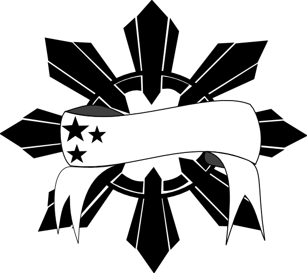 Tribal black and white clipart sun clipart library stock Pinoy Sun Stars Clip Art at Clker.com - vector clip art online ... clipart library stock