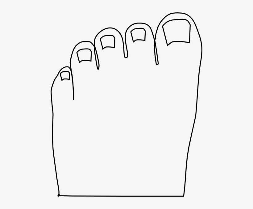 Black and white clipart of a toes vector royalty free library Small - Toes Black And White Clipart - Free Transparent PNG Download ... vector royalty free library