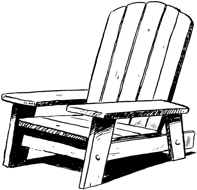 Adirondack chairs clipart clip black and white Chair Clipart Black And White | Free download best Chair Clipart ... clip black and white
