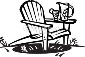 Black and white clipart of adirondack chair jpg royalty free library Collection of Chairs clipart | Free download best Chairs clipart on ... jpg royalty free library