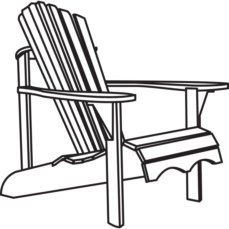 Black and white clipart of adirondack chair clip freeuse download Classic Accessories Veranda Adirondack Chair Cover Waterproof New ... clip freeuse download