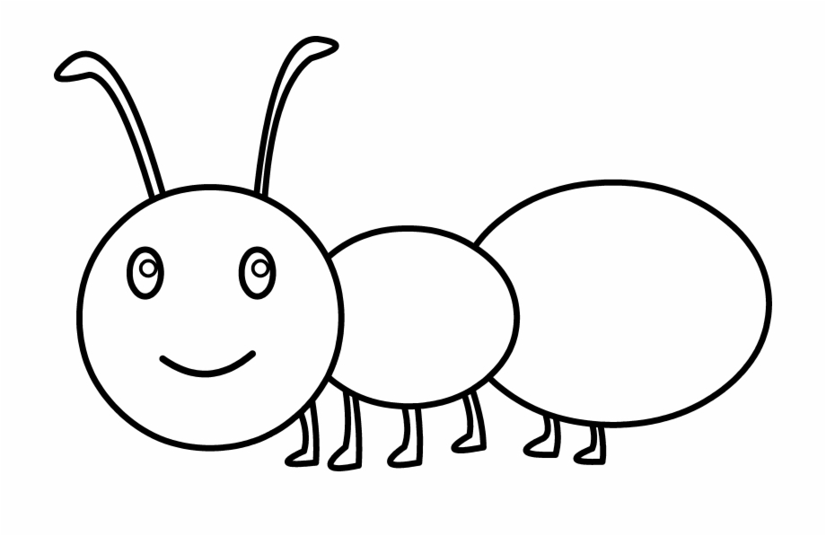 Black and white clipart of an ant svg library library Spider Clipart Ant - Cute Ant Coloring Free PNG Images & Clipart ... svg library library
