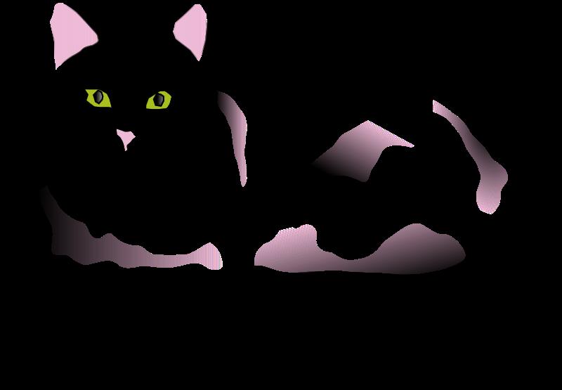 Black and white clipart of cat jpg Clipart - Black and White Fluffy Cat jpg