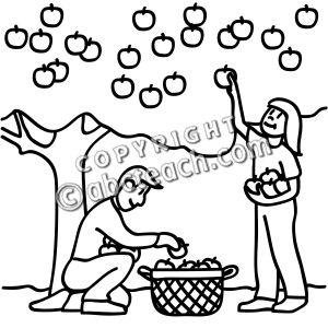 Black and white clipart of children picking apples graphic download Children Picking Apples Clip | Clipart Panda - Free Clipart Images graphic download