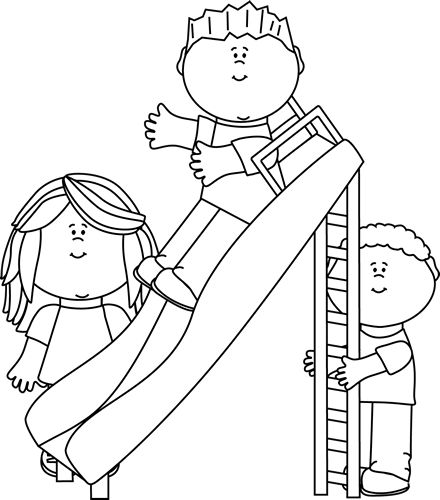 Black and white clipart of children sliding jpg library library Slide Cliparts - Cliparts Zone jpg library library