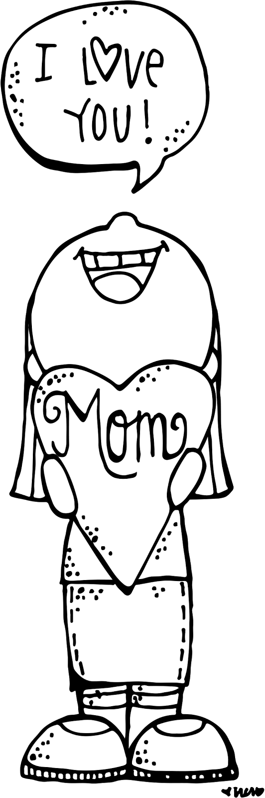 Black and white clipart of christian mothers day royalty free library Melonheadz LDS illustrating | Melonheadz | Mothers day crafts ... royalty free library