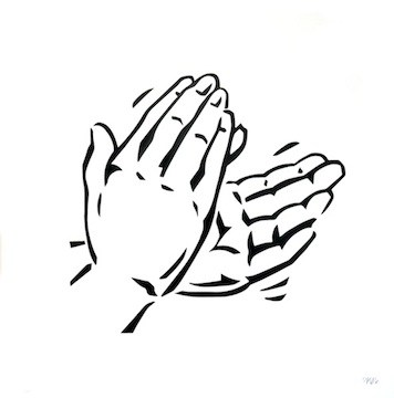 Black and white clipart of clapping hands graphic download Clapping hands clipart black and white 4 » Clipart Portal graphic download