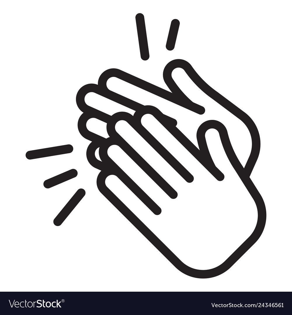 Black and white clipart of clapping hands clipart transparent download Applause icon clapping hands clipart transparent download
