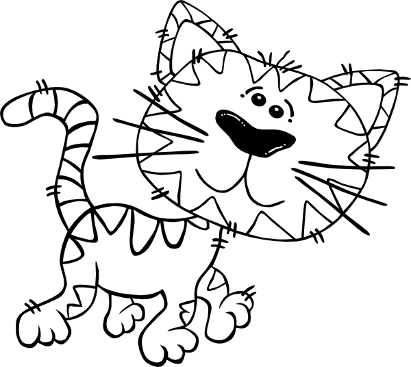 Cat walking clipart vector freeuse Cat Line Drawing Clip Art at GetDrawings.com | Free for personal use ... vector freeuse