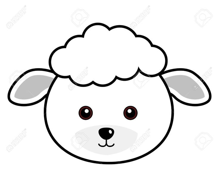 Black and white clipart of cute faces clip black and white stock Sheep Black And White Clipart | Free download best Sheep Black And ... clip black and white stock