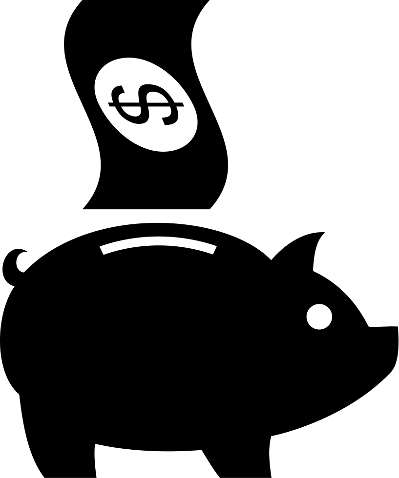 Black and white clipart of fish on a bank graphic freeuse library Piggy Bank Savings Svg Png Icon Free Download (#60863 ... graphic freeuse library
