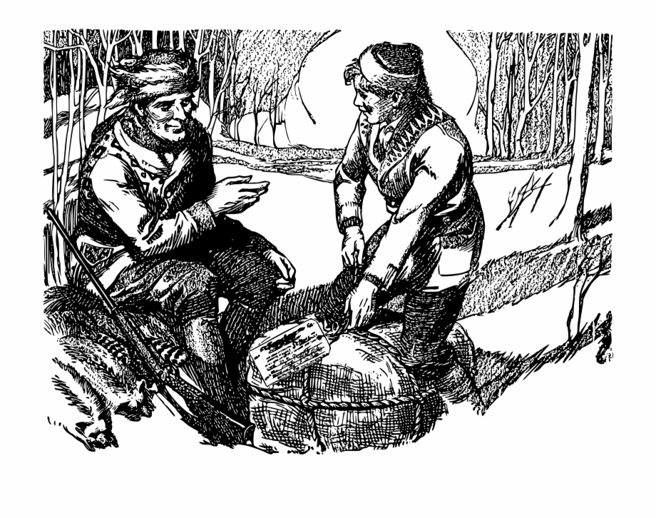 Black and white clipart of fur trapper image library This Free Icons Png Design Of Fur Trappers - Illustration Free PNG ... image library