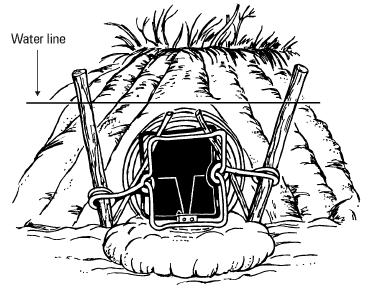Black and white clipart of fur trapper png free Beaver Trapping Tips and Information   Fleming Traps png free