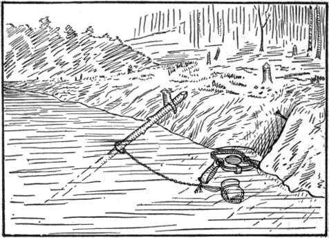 Black and white clipart of fur trapper picture black and white The Science of Trapping by E. Kreps picture black and white