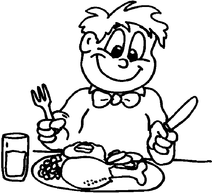 Free clipart black and white outline kid eating supper stock Collection of Eating clipart | Free download best Eating clipart on ... stock