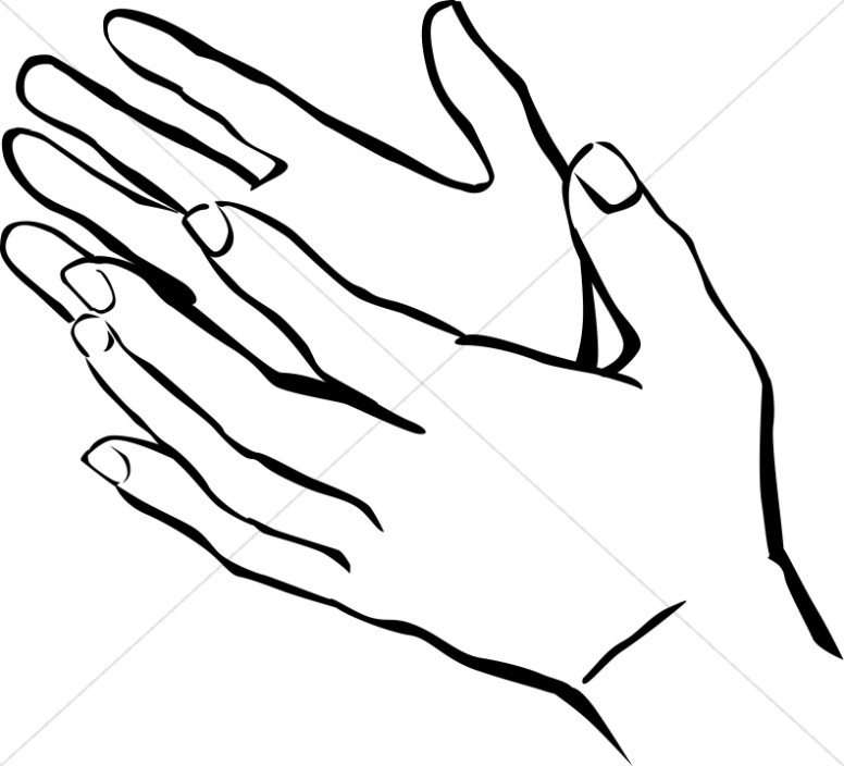Black and white clipart of hands over hands freeuse library Hands Uplifted Clipart | Praise Clipart freeuse library
