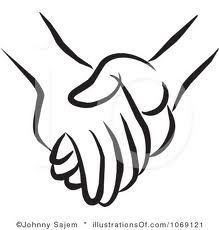 Friends holding hands clipart