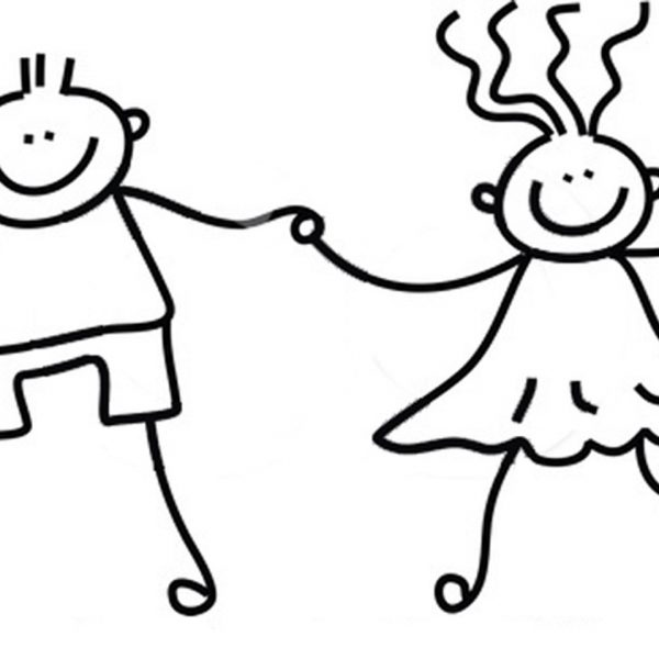 Black and white clipart of holding hands clip royalty free Free Black And White Kids Holding Hands, Download Free Clip Art in ... clip royalty free