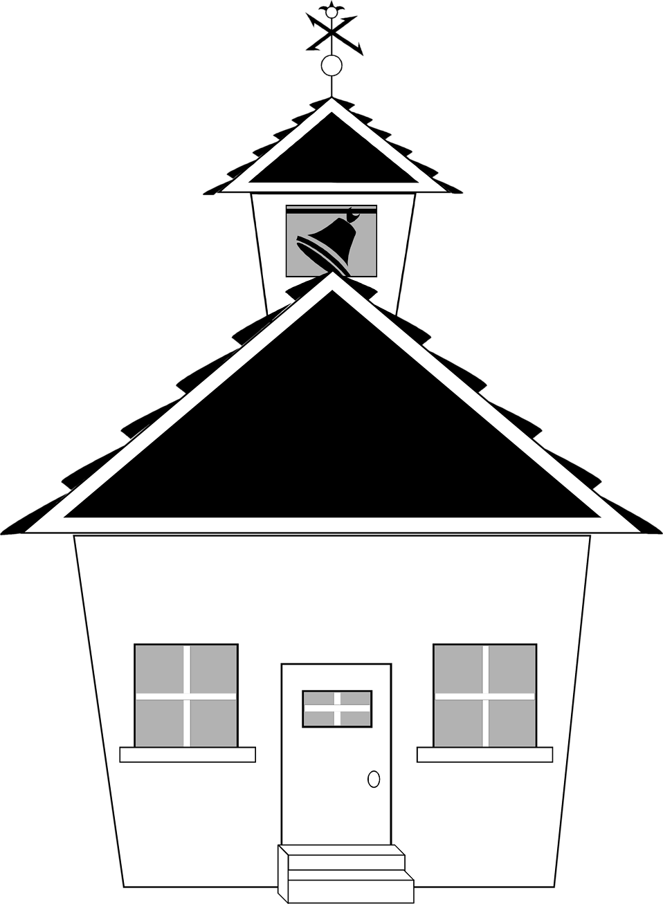 Black and white clipart of house clip art library stock School | Free Stock Photo | Illustration of a small school house ... clip art library stock