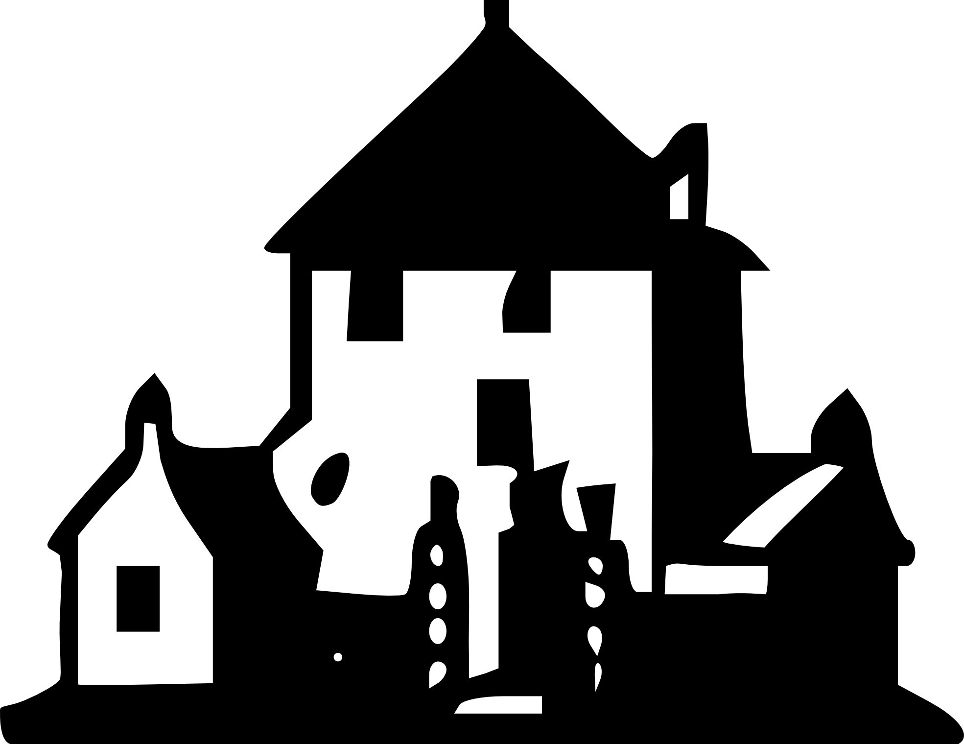 Black and white clipart of house clipart library stock Haunted house clipart black and white | ClipartMonk - Free Clip Art ... clipart library stock
