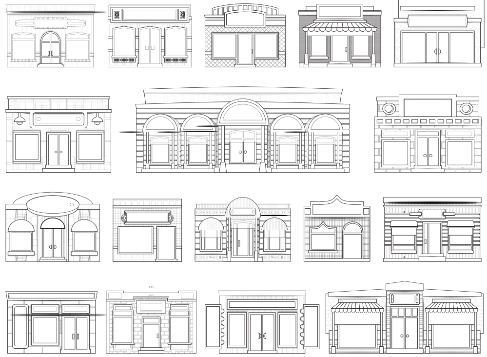 Clipart black and white house picture free stock clipartist.net » Clip Art » Abstract Store House Fronts Shop Window ... picture free stock