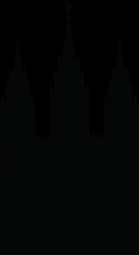 Simple lds temple clipart vector stock Salt Lake City Temple Silhouette Clipart | YW | Lds clipart, Salt ... vector stock