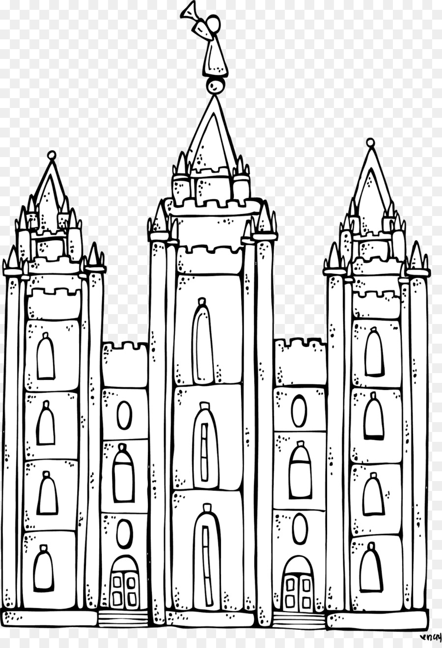 Black and white clipart of lds temple clip black and white stock Book Black And White clipart - Temple, Child, transparent clip art clip black and white stock