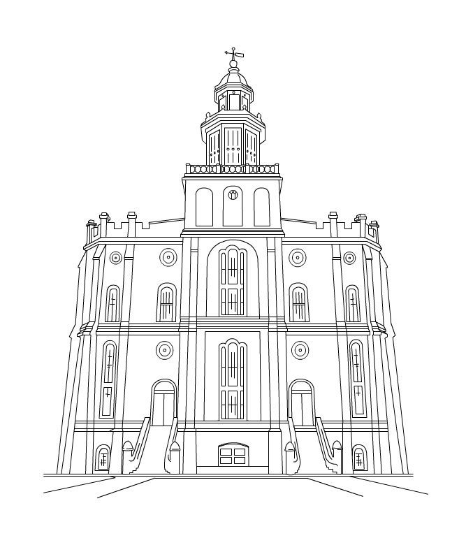 Manti temple clipart stock Lds temple clipart black and white 2 » Clipart Portal stock