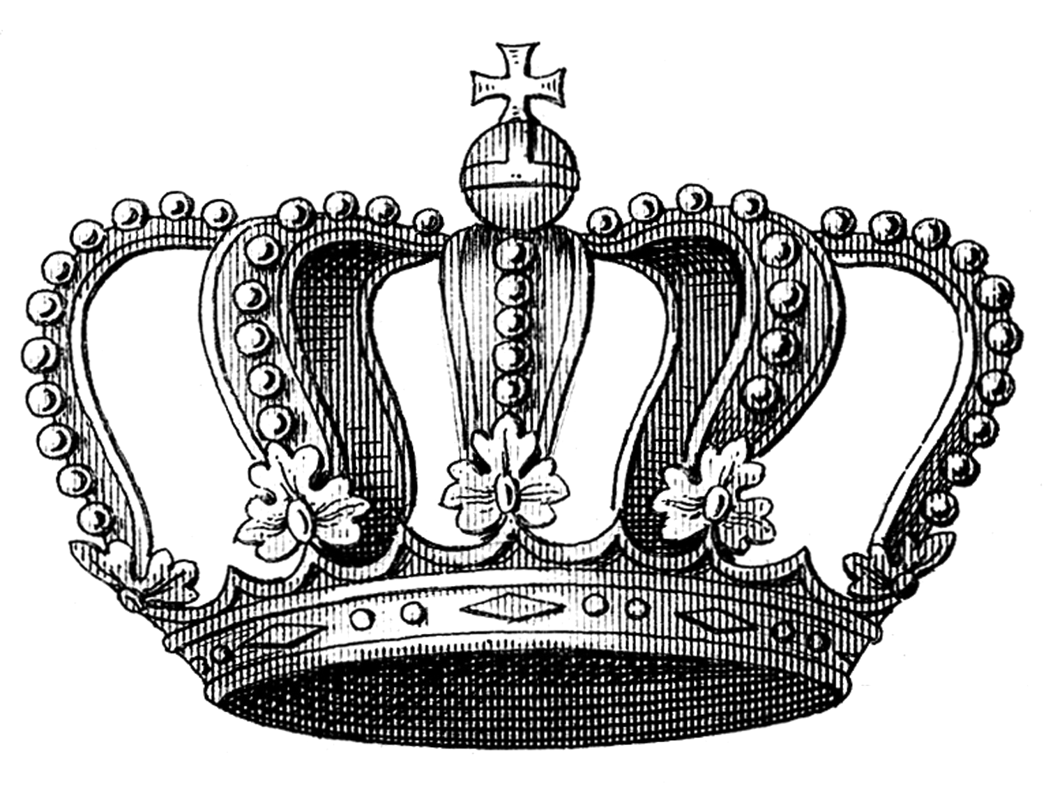 Black and white clipart of male crown image Crown Vintage clothing Clip art - crown 1500*1134 transprent Png ... image