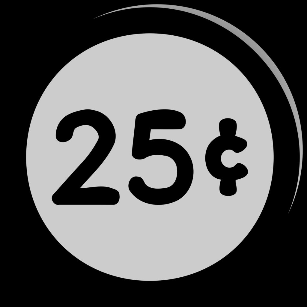 Black and white clipart of money banner black and white Money Quarter Clipart Of | typegoodies.me banner black and white
