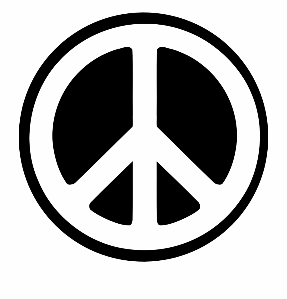 Black and white clipart of peace sign transparent library Peace Cliparts - White And Black Logo Free PNG Images & Clipart ... transparent library