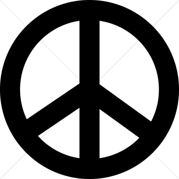 Black and white clipart of peace sign clipart black and white library Black Peace Symbol | Peace Clipart clipart black and white library
