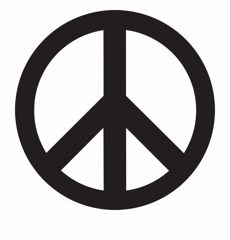 Black and white clipart of peace sign jpg royalty free download Peace Symbol Png - Peace Sign Clipart Black And White, Transparent ... jpg royalty free download