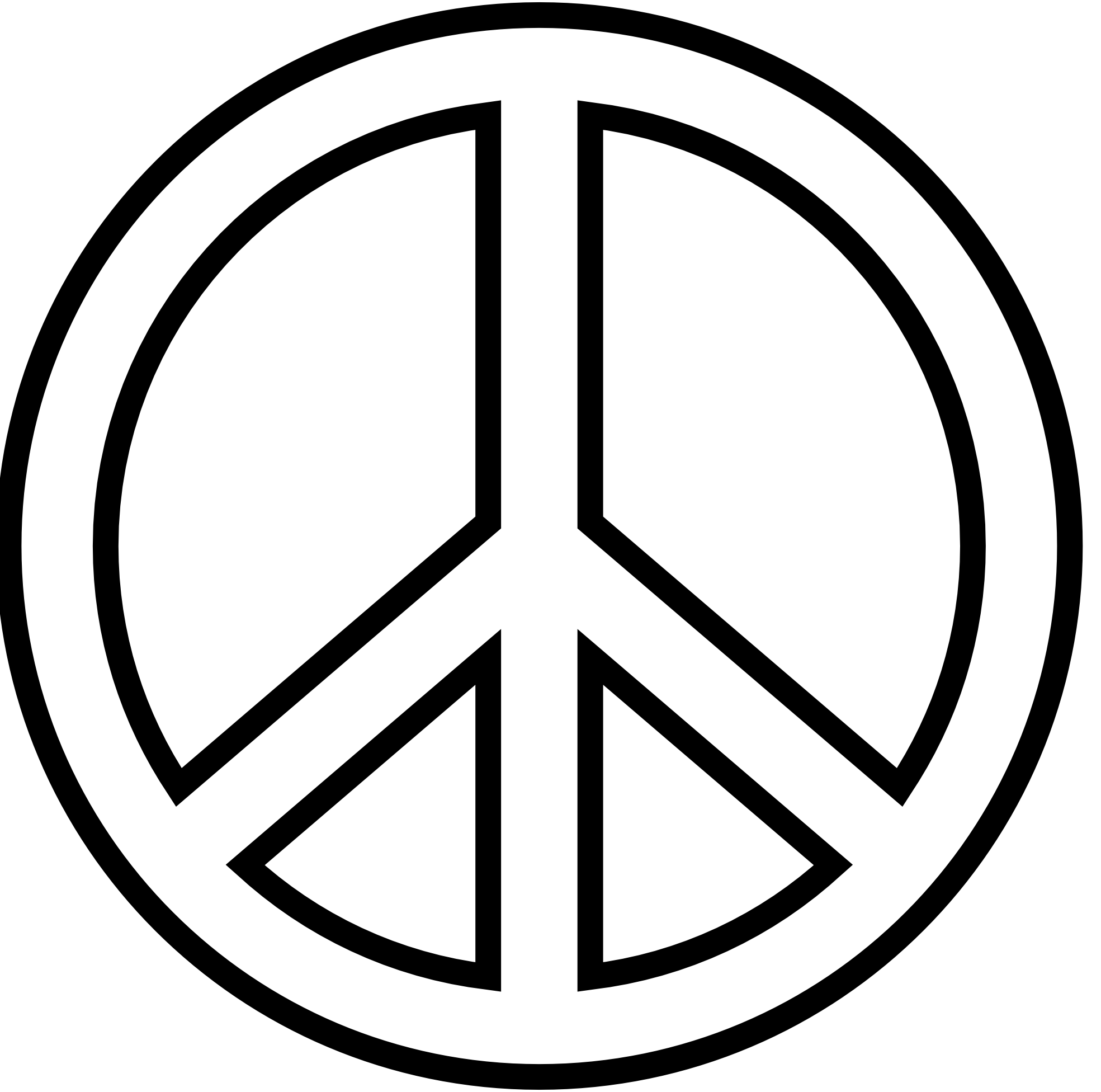 Black and white clipart of peace sign vector transparent download Free Printable Peace Sign, Download Free Clip Art, Free Clip Art on ... vector transparent download