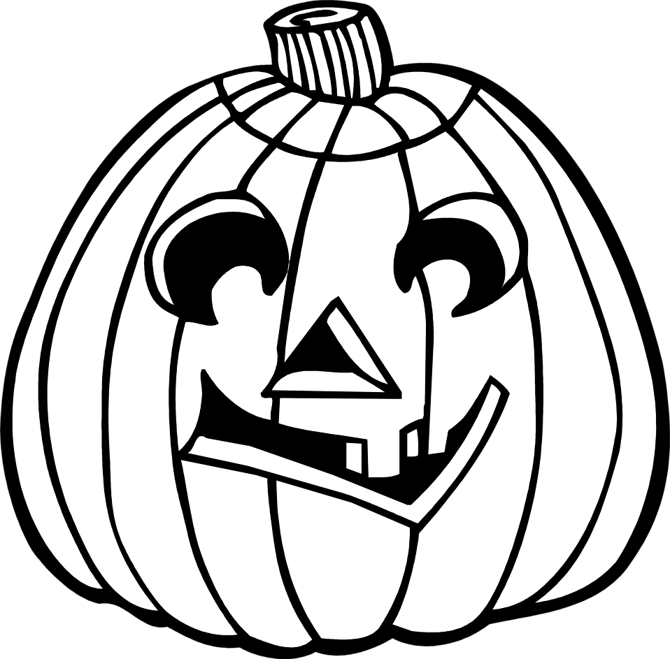 Fall pumpkin black and white clipart. Jack o lantern free