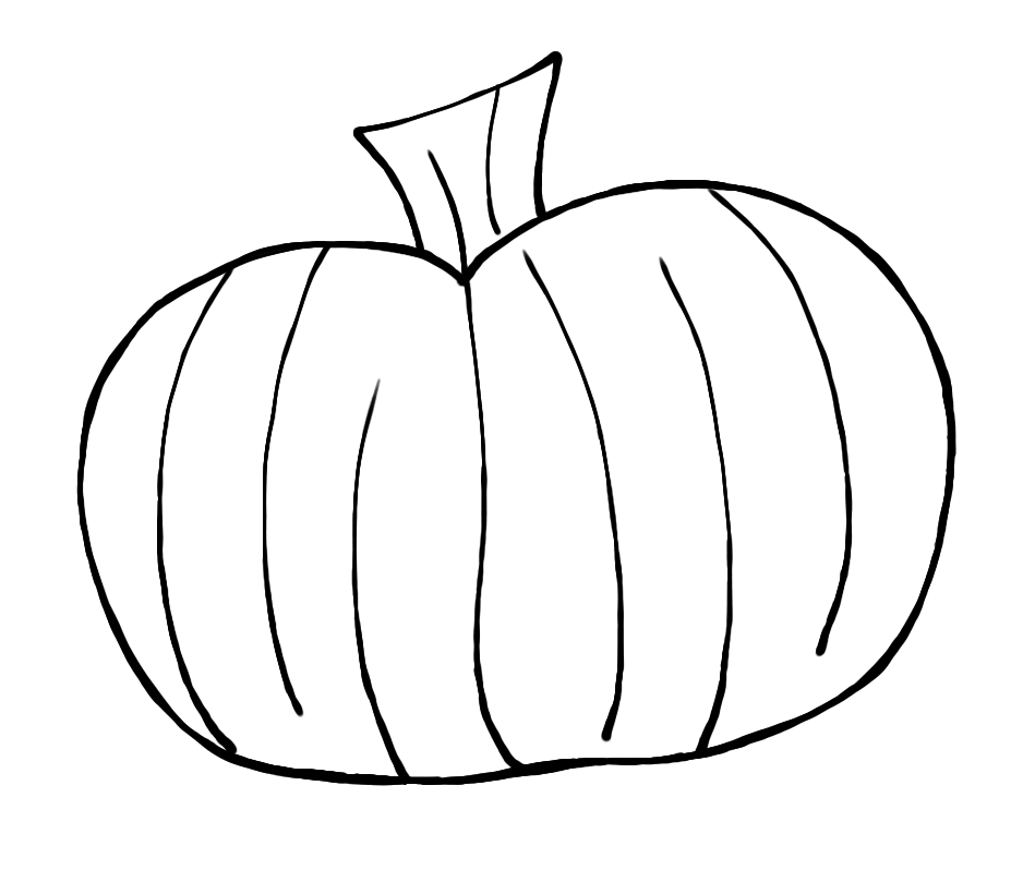 Pumpkin Outline Clipart Black And White | Clipart Panda - Free ... freeuse download