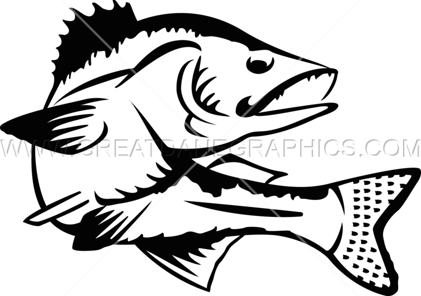 Fish jumping clipart image black and white Walleye Clipart (60+) image black and white