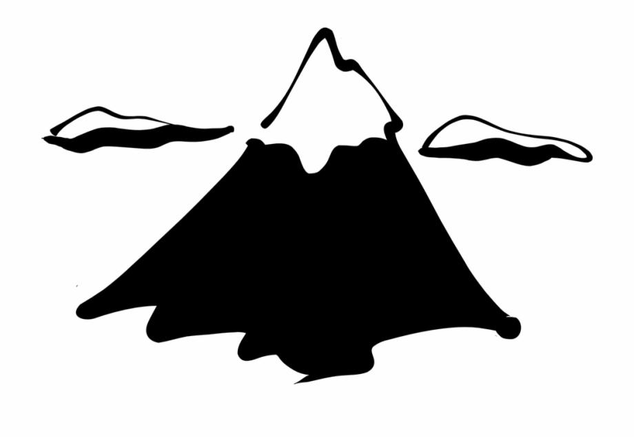 Black and white clipart of snow on mountain peaks clip black and white stock Mountain Top Snow Snowy Peak Silhouette Sketch - Mountain Clip Art ... clip black and white stock