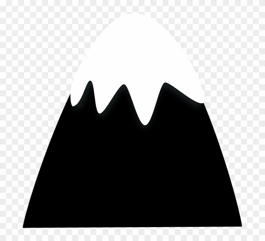 Black and white clipart of snow on mountain clip free Hills Clipart 2 Mountain - Cartoon Snow Covered Mountain Png ... clip free