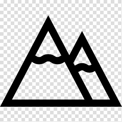 Black and white clipart of snow on mountain svg royalty free download Computer Icons Symbol Mountain , snow mountain transparent ... svg royalty free download