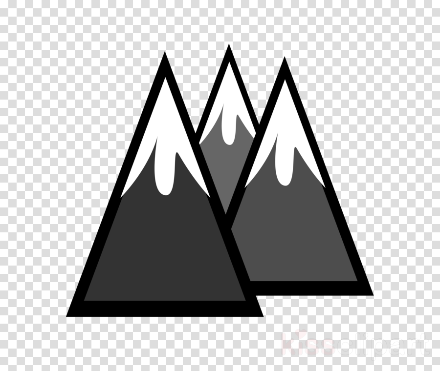 Black and white clipart of snow on mountain clipart freeuse stock Black Line Background clipart - Mountain, Snow, Illustration ... clipart freeuse stock