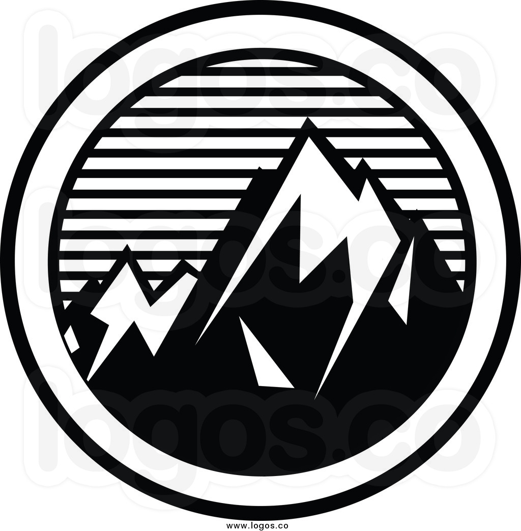 Black and white clipart of snow on mountain clip art free stock Mountain Drawing Black And White | Free download best Mountain ... clip art free stock