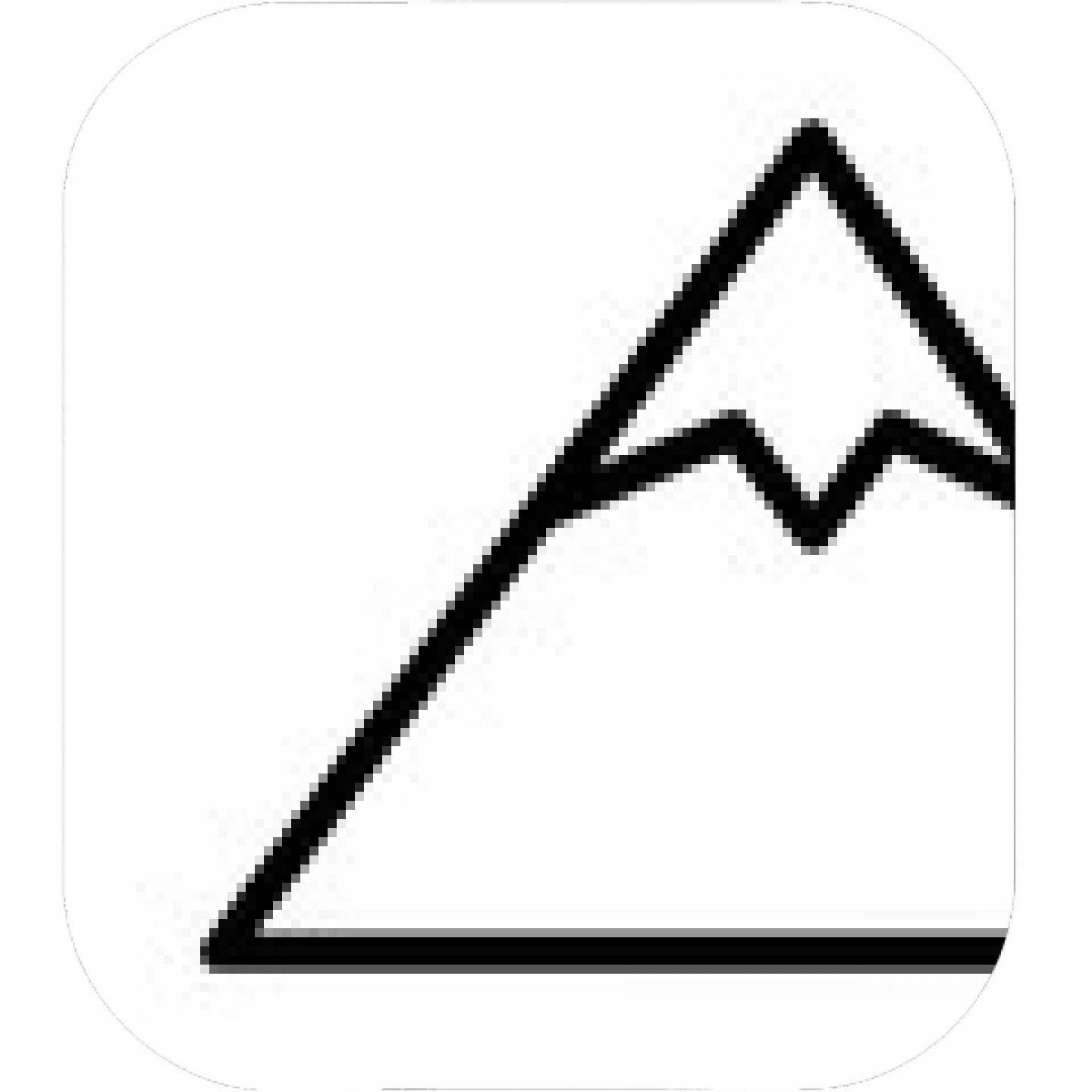 Black and white clipart of snow on mountain peaks svg transparent download Tall Mountain Peak With Snow Line Art Vector Icon For Outdoor Apps ... svg transparent download