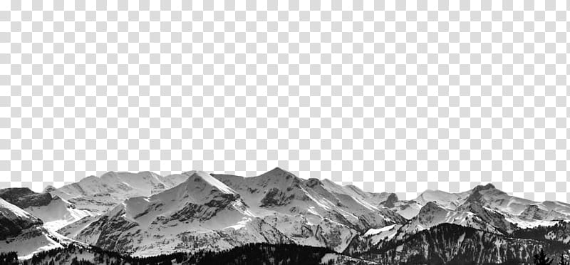 Black and white clipart of snow on mountain peaks clip royalty free download snow cap mountains transparent background PNG clipart | HiClipart clip royalty free download