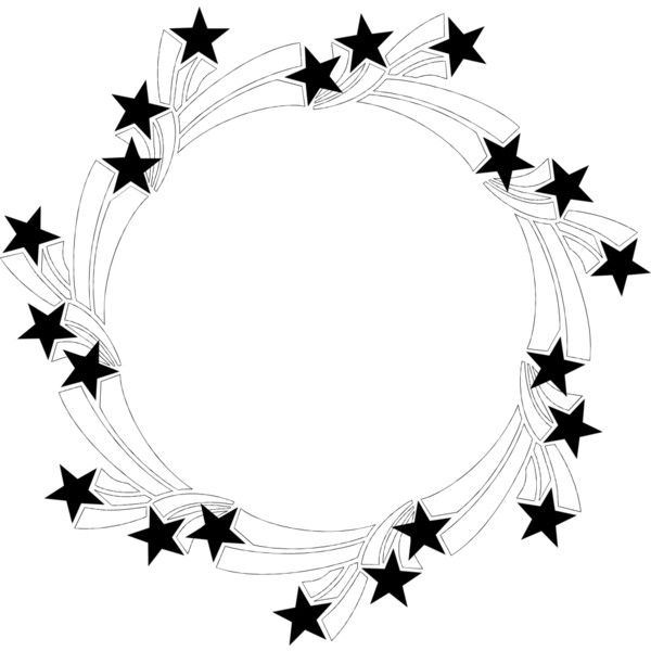 Black and white clipart of stars in circle clipart transparent library Border Stars ❤ liked on Polyvore featuring fillers, backgrounds ... clipart transparent library
