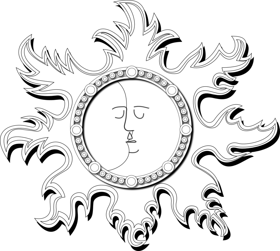 Sun outline clipart clipart free stock Public Domain Clip Art Image | Sun and Moon Outline | ID ... clipart free stock