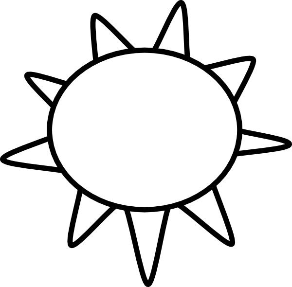 Black and white sun clipart clip black and white library Sun Outline Clip Art at Clker.com - vector clip art online, royalty ... clip black and white library